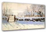 Monet, Claude: The Magpie. Fine Art Winter Scene Canvas. Sizes: A3/A2/A1 (00241)